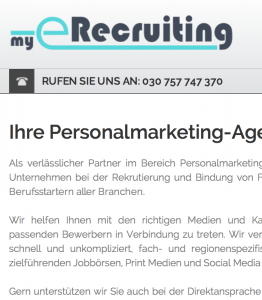 screenshot myerecruiting-de